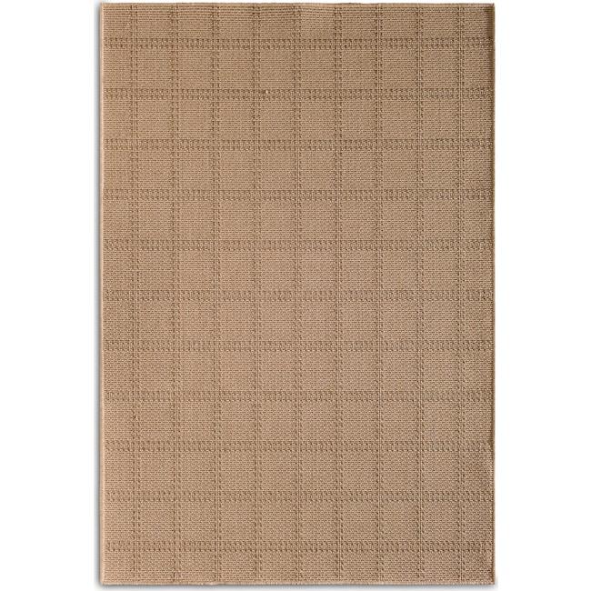 Outdoor Furniture - Plaid 7' x 10' Indoor/Outdoor Rug - Beige