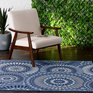 Dahlia Indoor/Outdoor Rug - Blue Multi