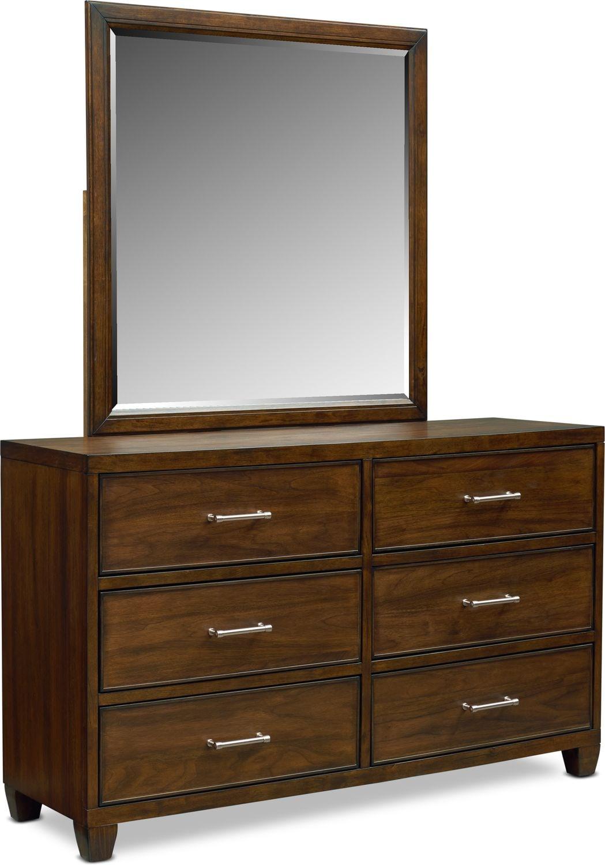Bedroom Furniture - Sullivan Dresser and Mirror - Walnut