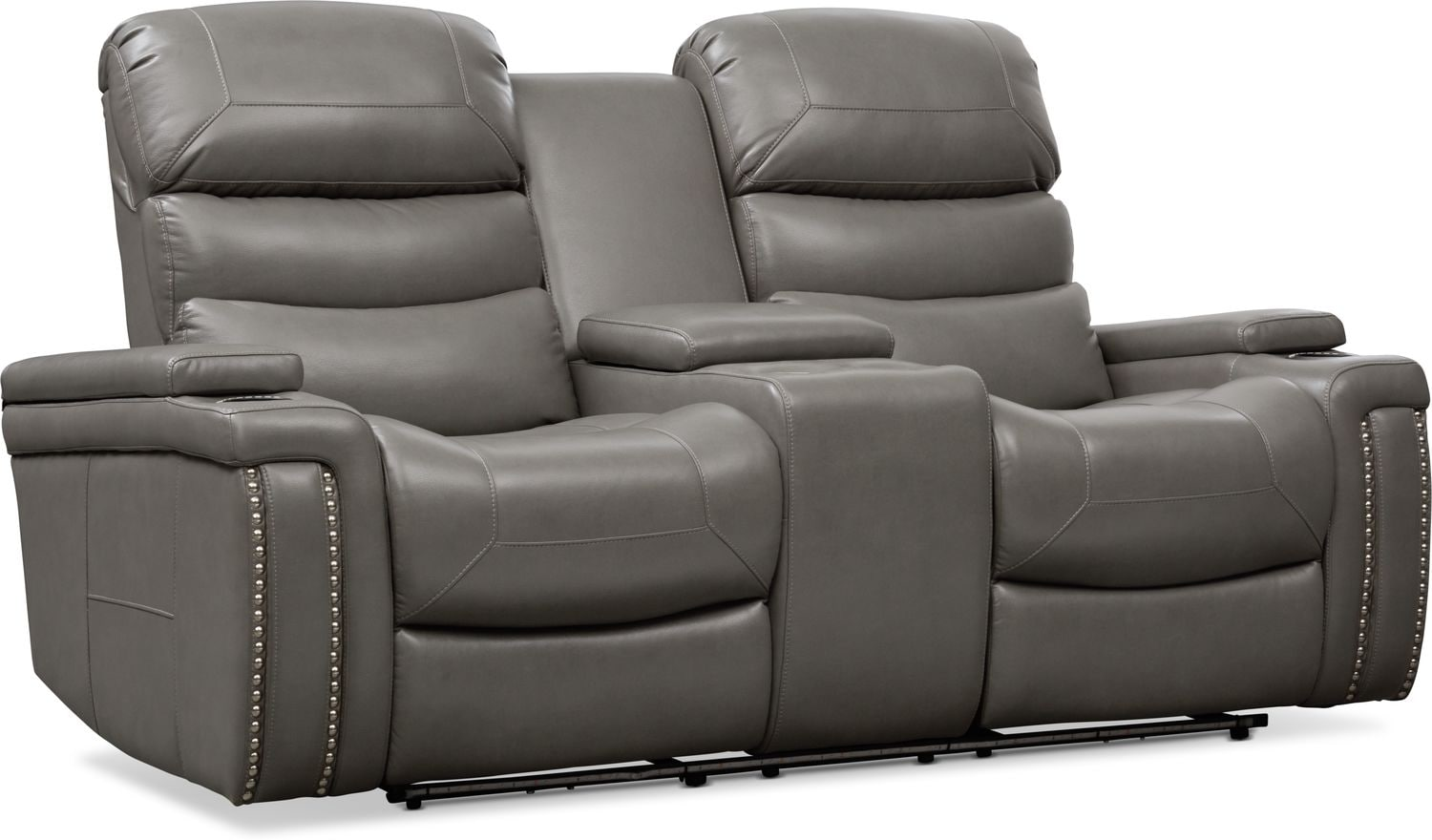 Living Room Furniture - Jackson Triple Power Reclining Loveseat