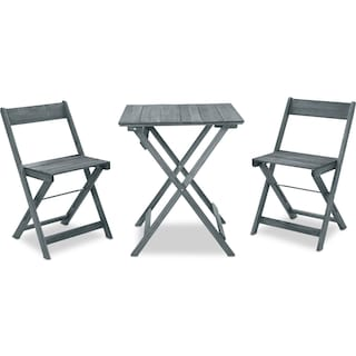 Hampton Beach 3-Piece Outdoor Folding Bistro Set