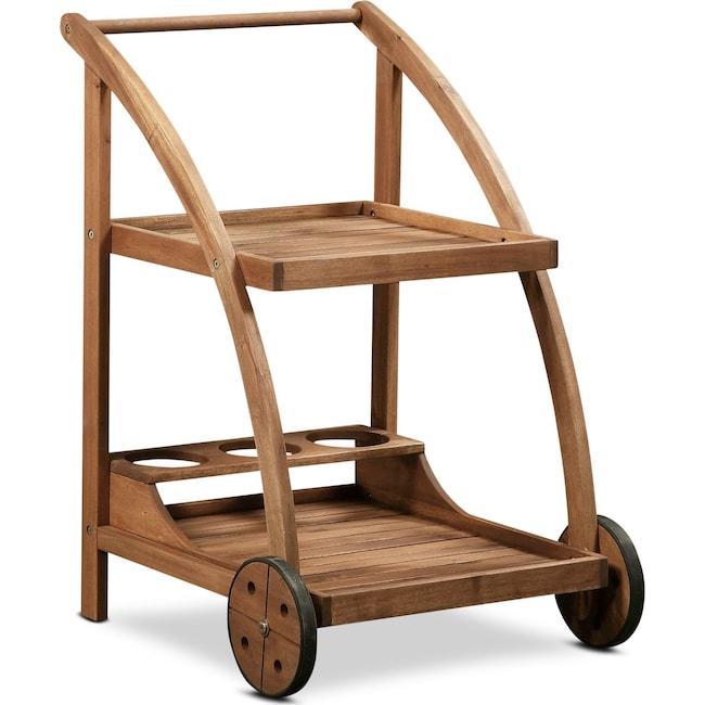 Outdoor Furniture - Hampton Beach Outdoor Bar Cart - Teak