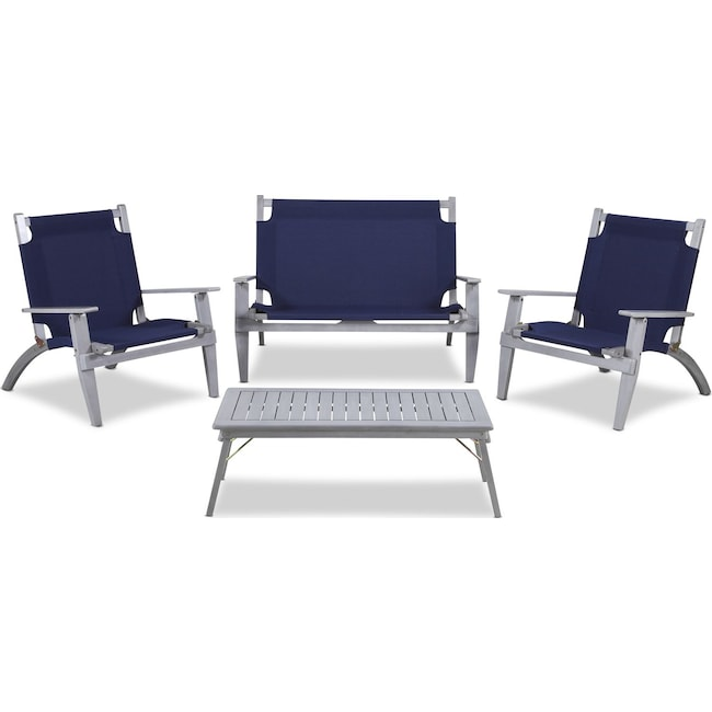 Outdoor Furniture - Nantucket 4-Piece Folding Outdoor Set