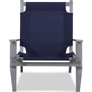 Nantucket Set of 2 Outdoor Folding Chairs - Gray