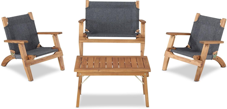 Outdoor Furniture - Nantucket 4-Piece Youth Outdoor Set