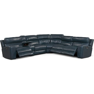 Newport 6-Piece Power Reclining Sectional with 3 Reclining Seats