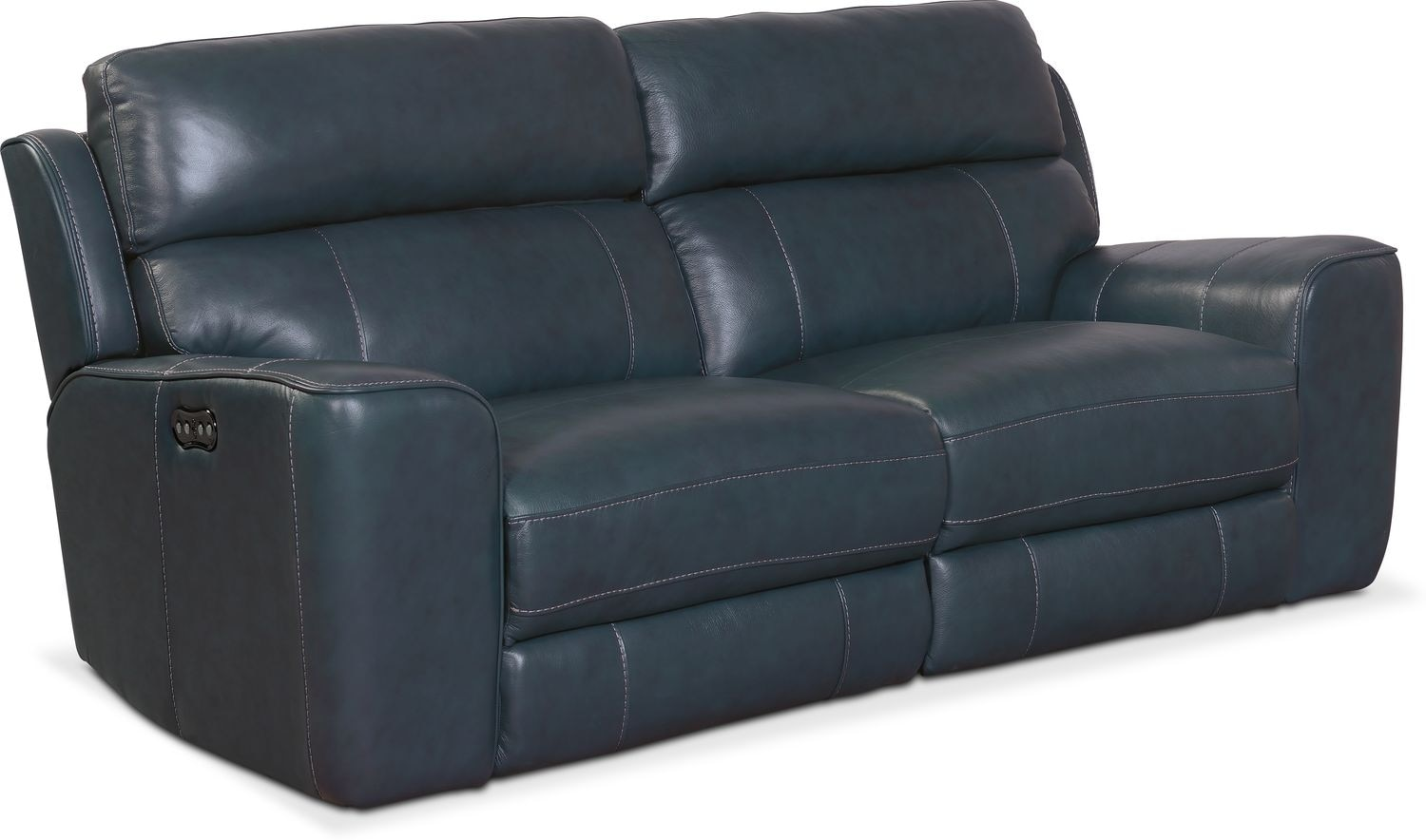 Living Room Furniture - Newport 2-Piece Dual-Power Reclining Sofa