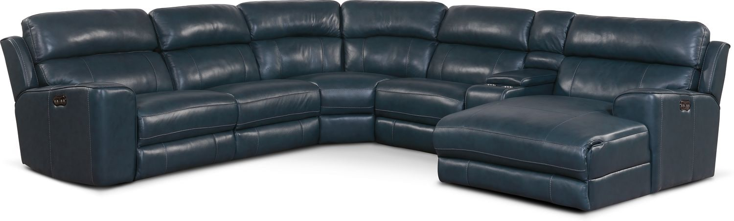 Stupendous Newport 6 Piece Dual Power Reclining Sectional With Chaise And 2 Reclining Seats Gamerscity Chair Design For Home Gamerscityorg
