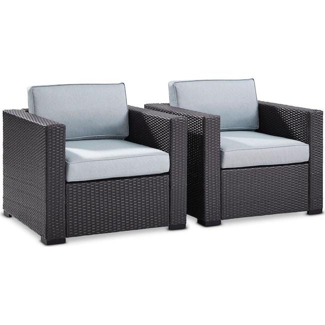 Outdoor Furniture - Isla Set of 2 Outdoor Chairs