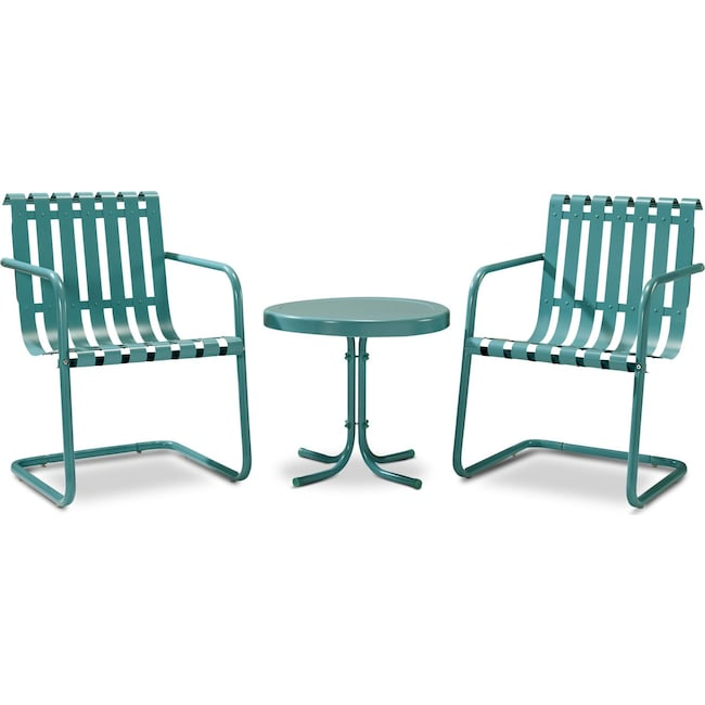 Outdoor Furniture - Janie Set of 2 Outdoor Chairs and Side Table