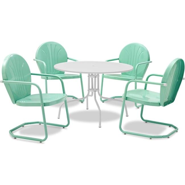 Outdoor Furniture - Kona 5-Piece Outdoor Dining Set