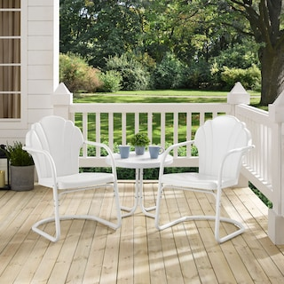 Tulip Set of 2 Outdoor Chairs and Side Table