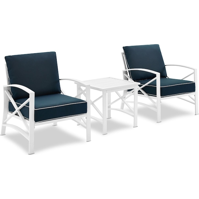 Outdoor Furniture - Clarion Set of 2 Outdoor Chairs and End Table