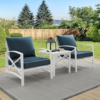 Clarion Set of 2 Outdoor Chairs and End Table