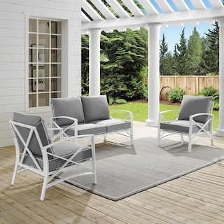 Clarion Outdoor Loveseat and 2 Chairs Set