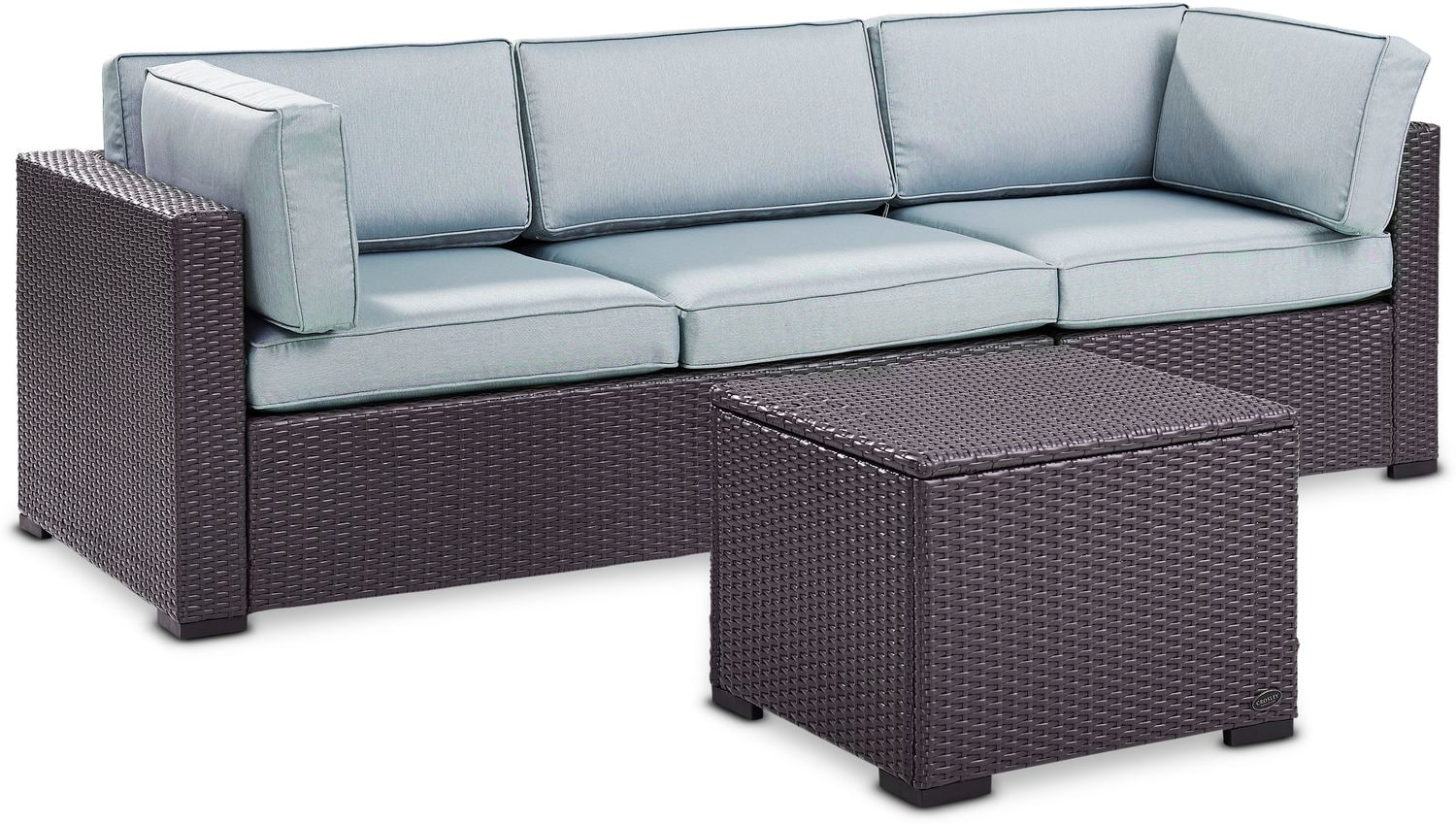 Outdoor Furniture - Isla 2-Piece Outdoor Sofa and Coffee Table Set - Mist