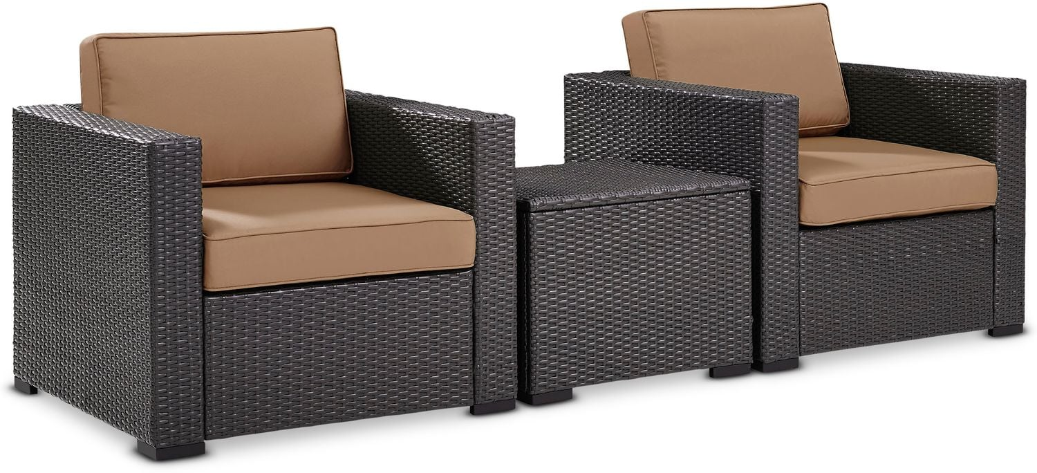 Outdoor Furniture - Isla Set of 2 Outdoor Chairs and Coffee Table