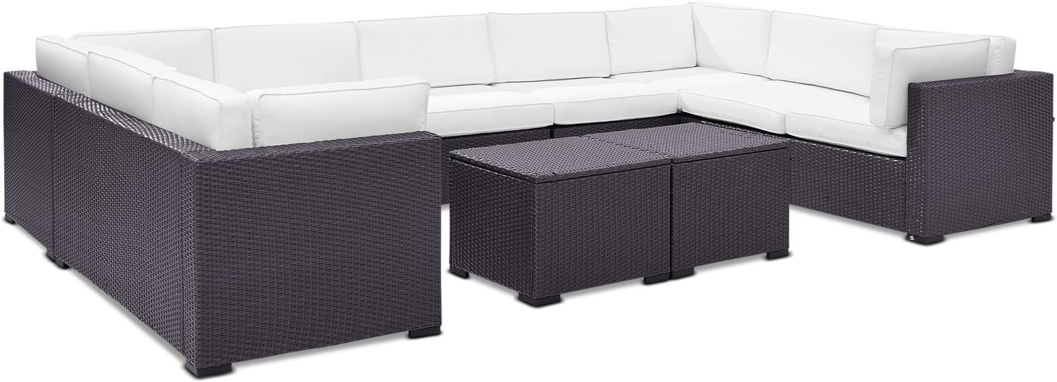 Outdoor Furniture - Isla 5-Piece Outdoor Sectional and 2 Coffee Tables