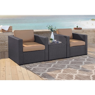 Isla Set of 2 Outdoor Chairs and Coffee Table