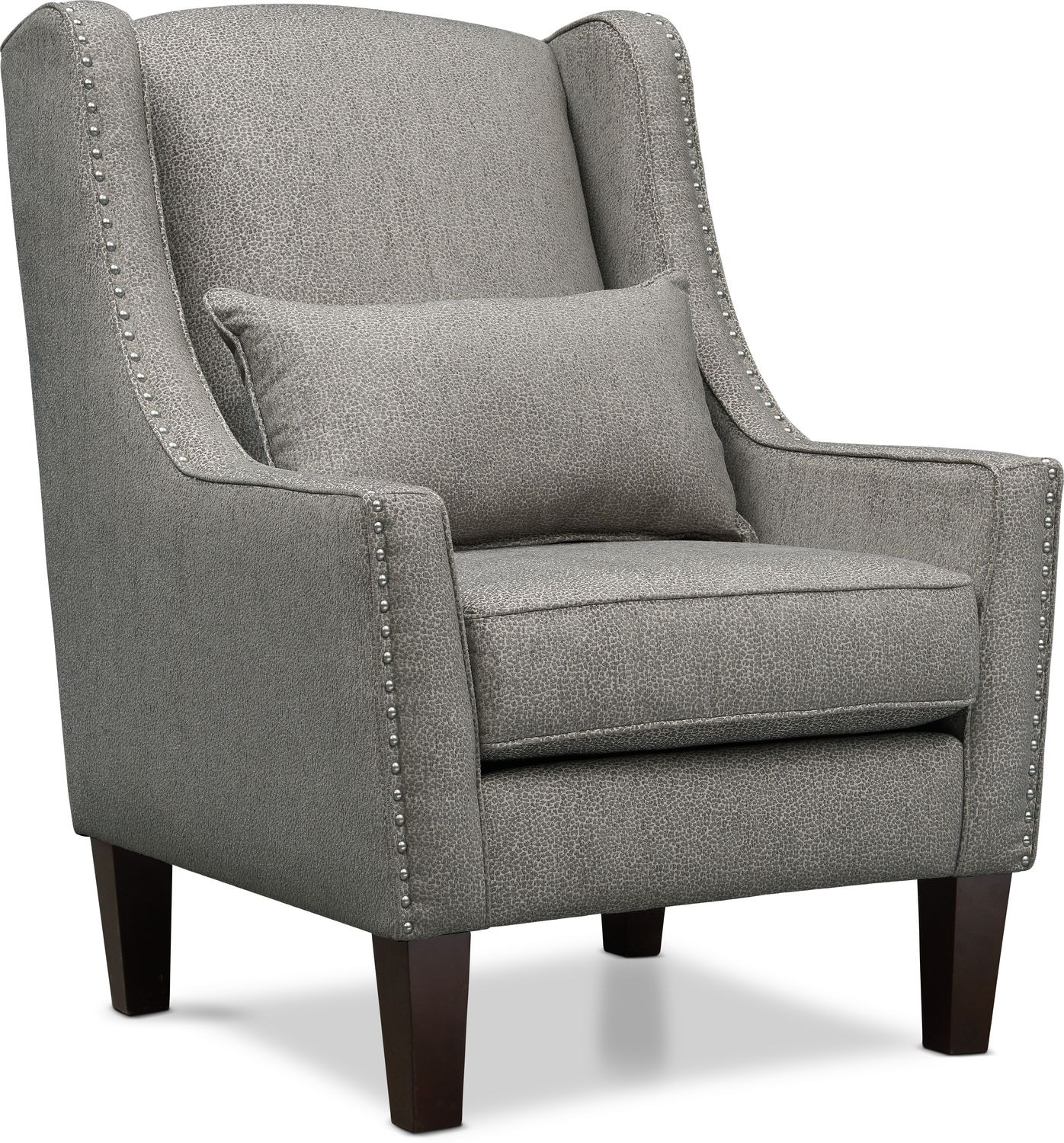 Accent Chairs.Roxie Accent Chair Gray