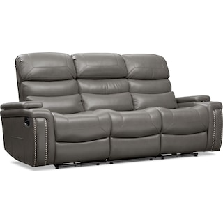 Jackson Manual Reclining Sofa - Gray