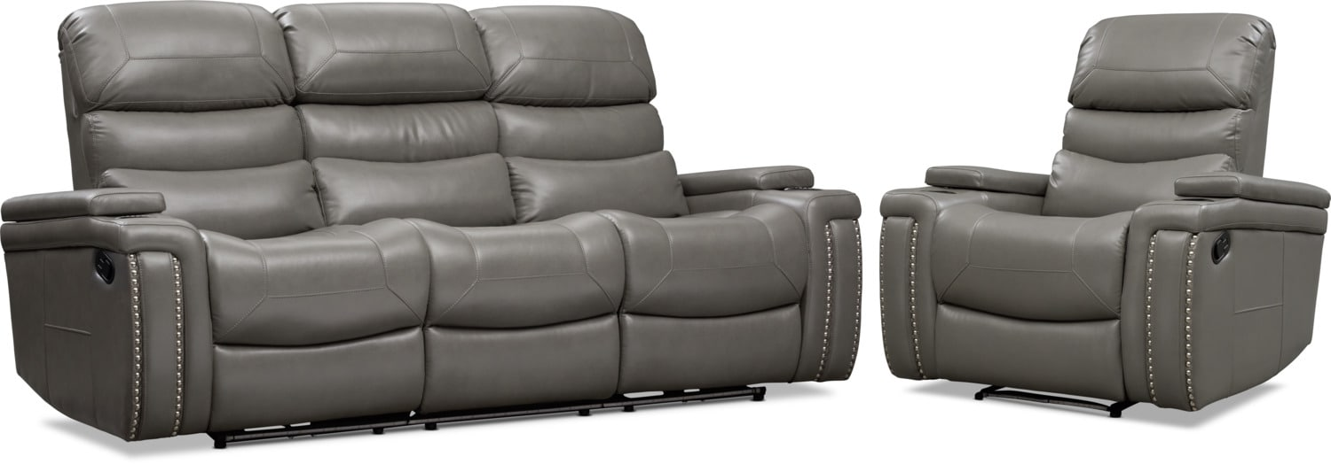 Living Room Furniture - Jackson Manual Reclining Sofa and Recliner Set