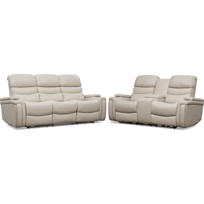 Living Room Furniture - Jackson Triple Power Reclining Sofa and Loveseat Set