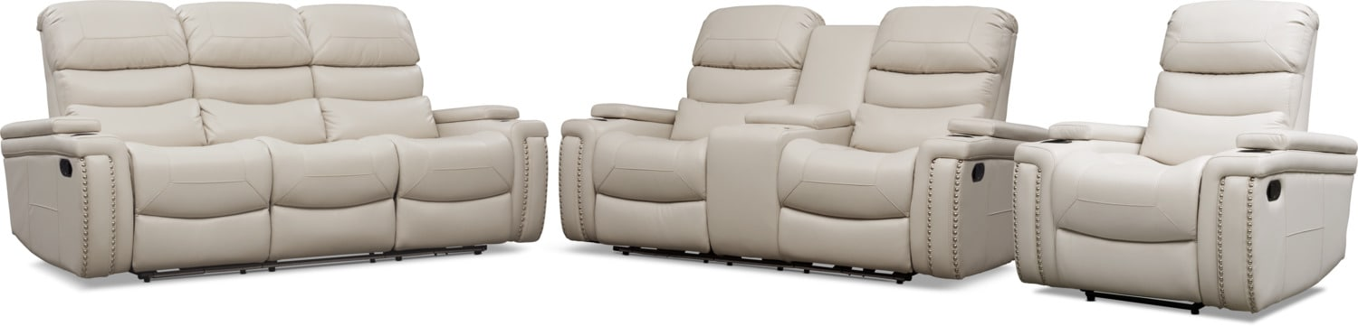 Living Room Furniture - Jackson Manual Reclining Sofa, Loveseat, and Recliner Set