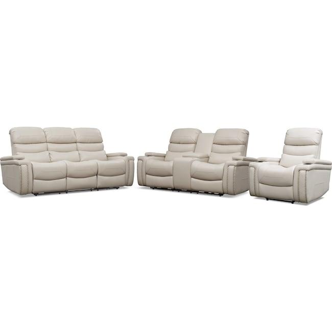 Living Room Furniture - Jackson Triple Power Reclining Sofa, Loveseat, and Recliner Set