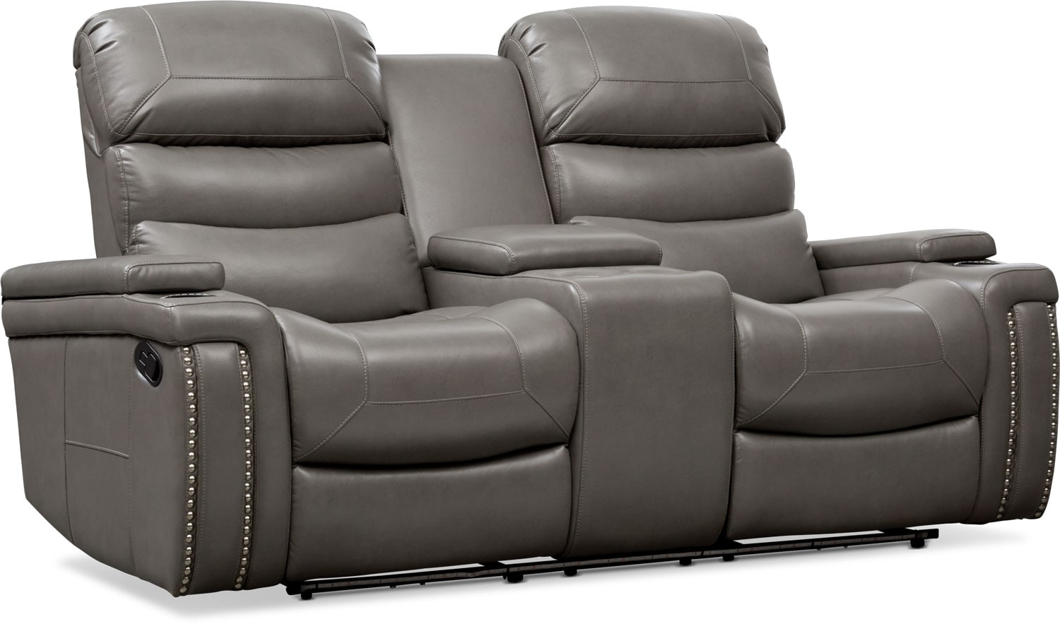 Living Room Furniture - Jackson Manual Reclining Loveseat