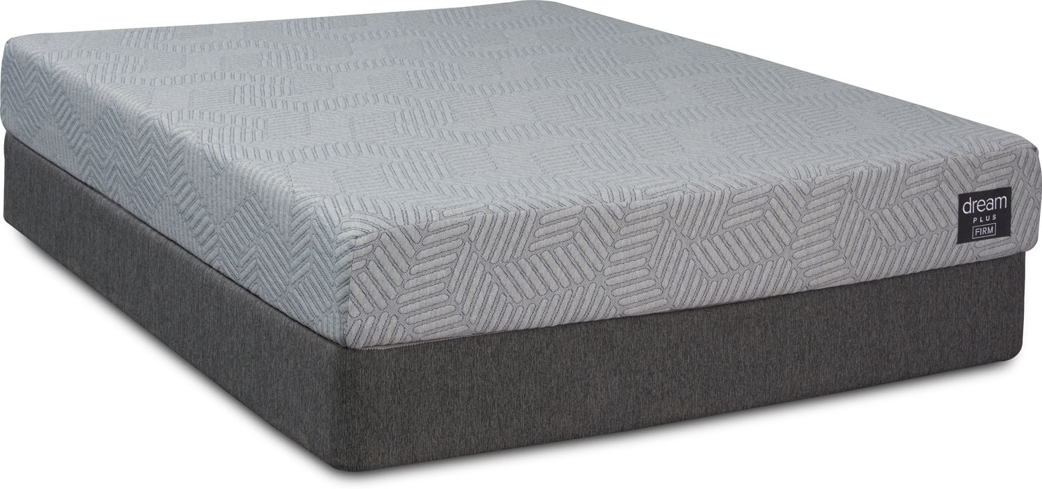 Mattresses and Bedding - Dream-In-A-Box Plus Firm Queen Mattress and Low-Profile Split Foundation