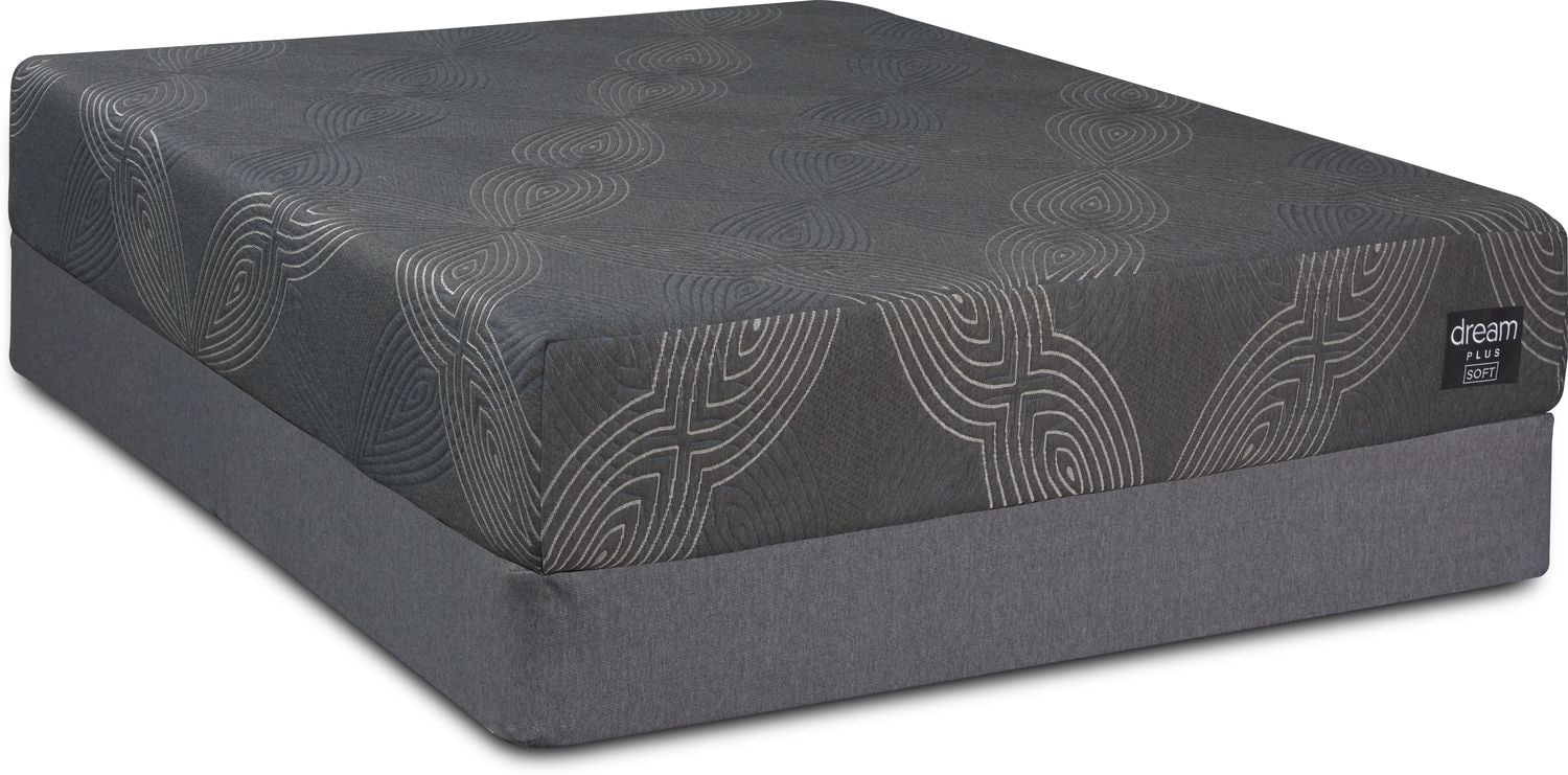 Mattresses and Bedding - Dream-In-A-Box Plus Soft Full Mattress and Foldable Foundation