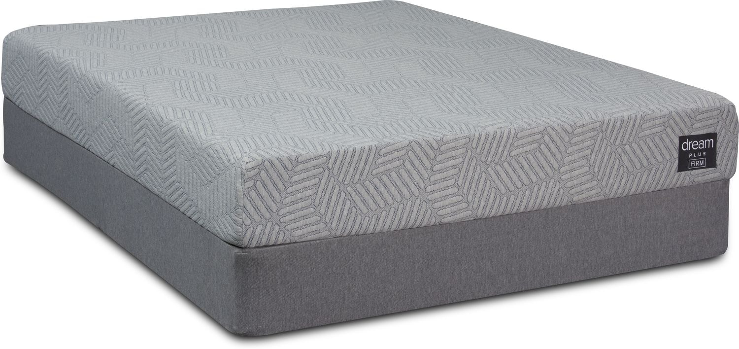 Mattresses and Bedding - Dream-In-A-Box Plus Firm King Mattress and Foldable Split Foundation