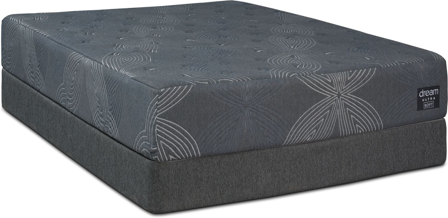 Mattresses and Bedding - Dream-In-A-Box Ultra Soft Queen Mattress and Low-Profile Split Foundation