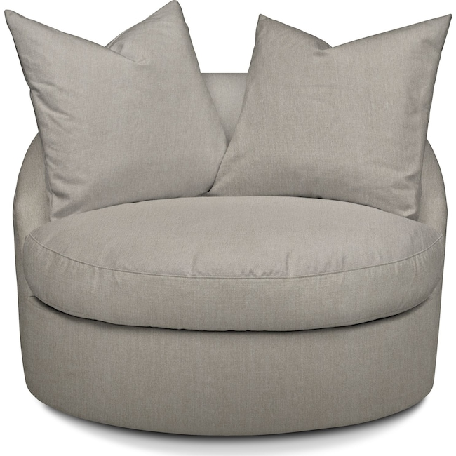 Living Room Furniture - Plush Swivel Chair