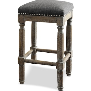 Alexandria 2-Piece Stool Set - Gray