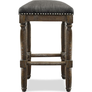 Alexandria Set of 2 Bar Stools - Gray