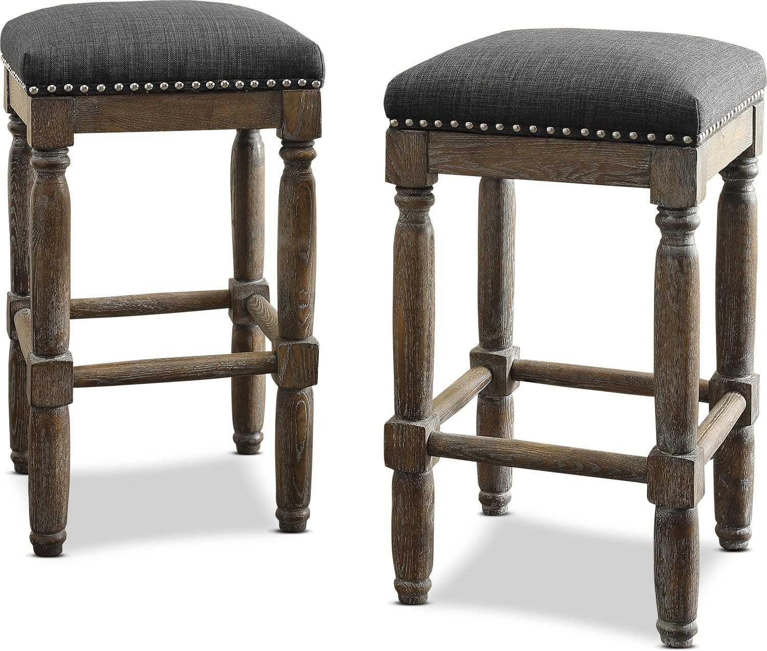 Accent and Occasional Furniture - Alexandria Set of 2 Bar Stools