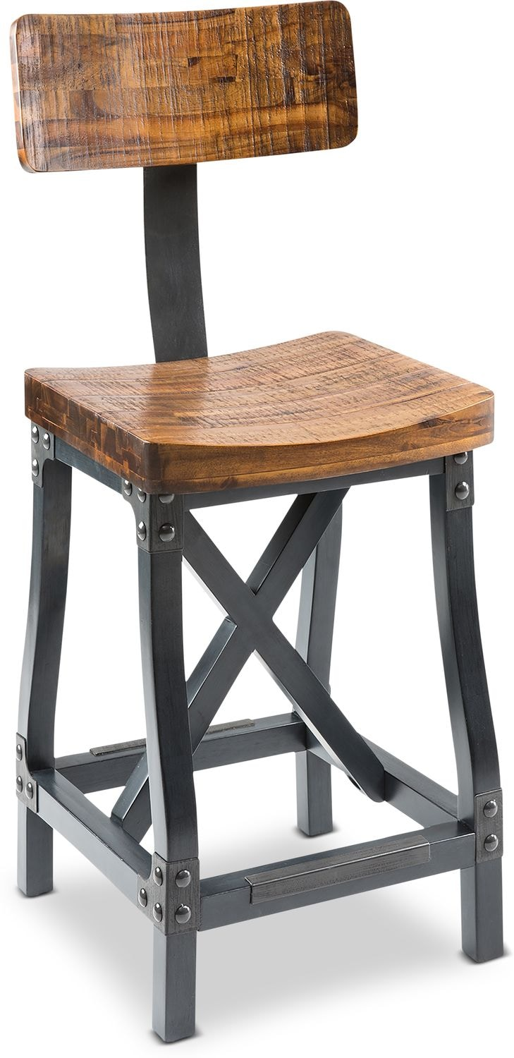 Accent and Occasional Furniture - Elliot Bar Stool - Brown