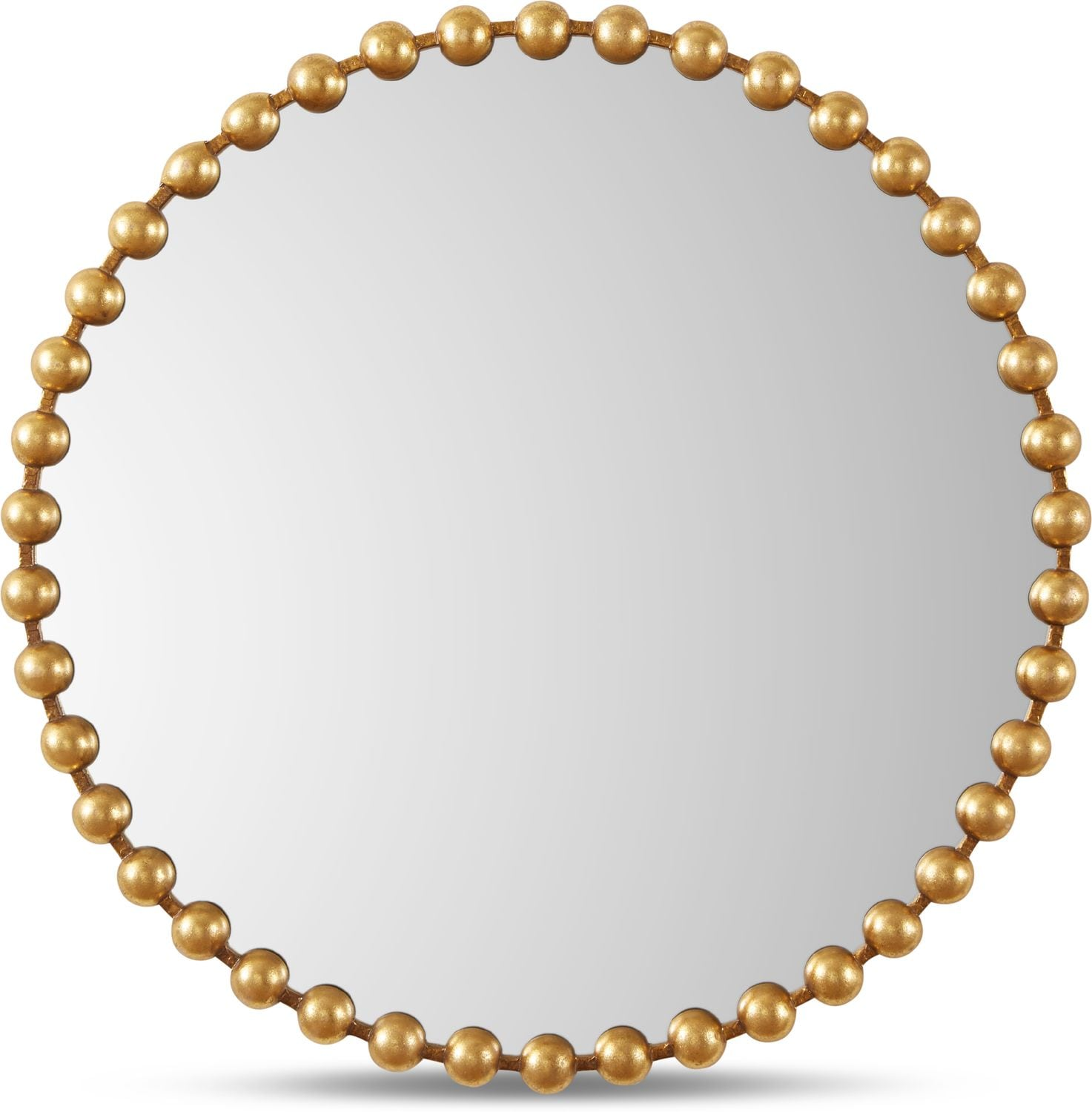Home Accessories - Gold Button Wall Mirror