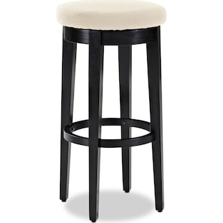 Max Set of 2 Swivel Bar Stools - Cream