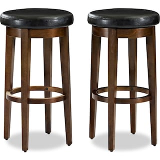 Max Set of 2 Swivel Barstools