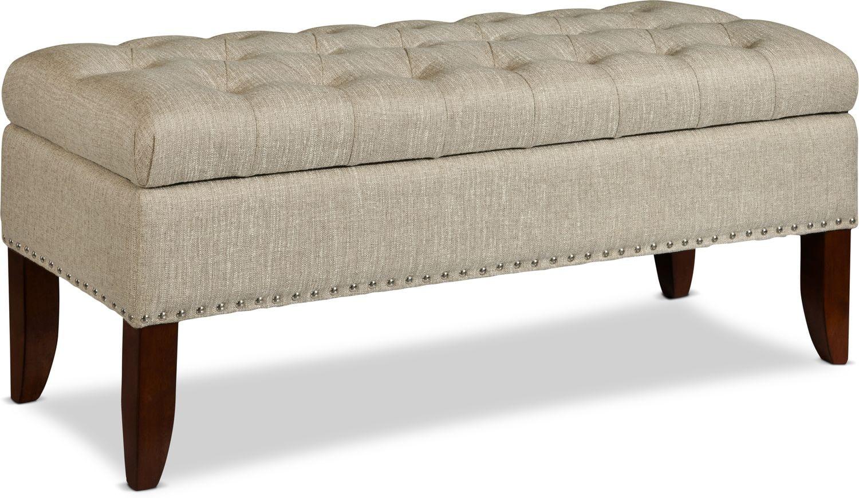 Bedroom Furniture - Harper Storage Bench