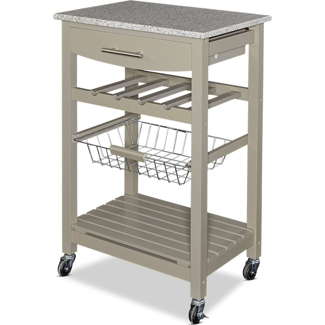 Accent and Occasional Furniture - Avon Granite Kitchen Cart