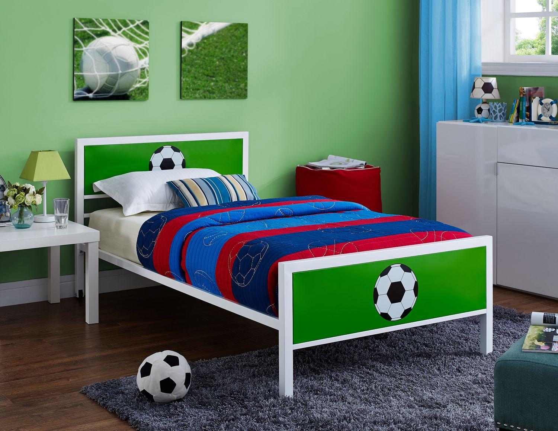 Kids Furniture - Goalkeeper Twin Bed