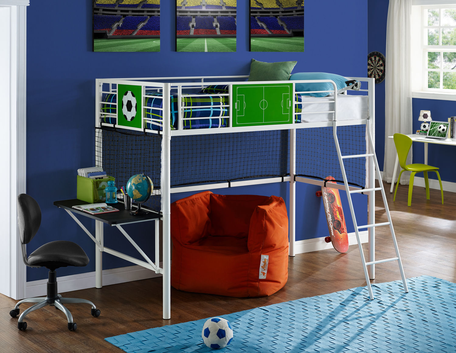 Kids Furniture - Goalkeeper Loft Bed