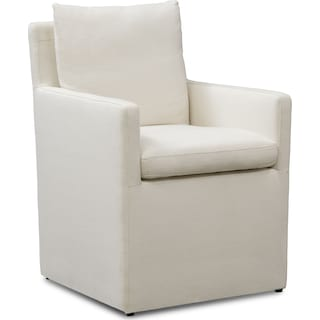 Plush Arm Chair - Ivory