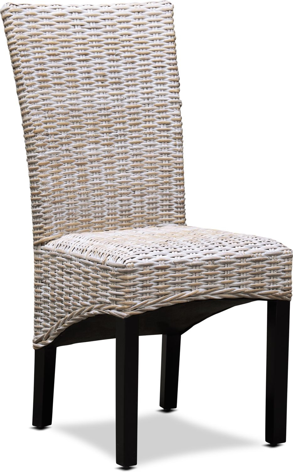 Dining Room Furniture - Raleigh Woven Side Chair - White