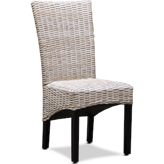 Raleigh Woven Side Chair - White