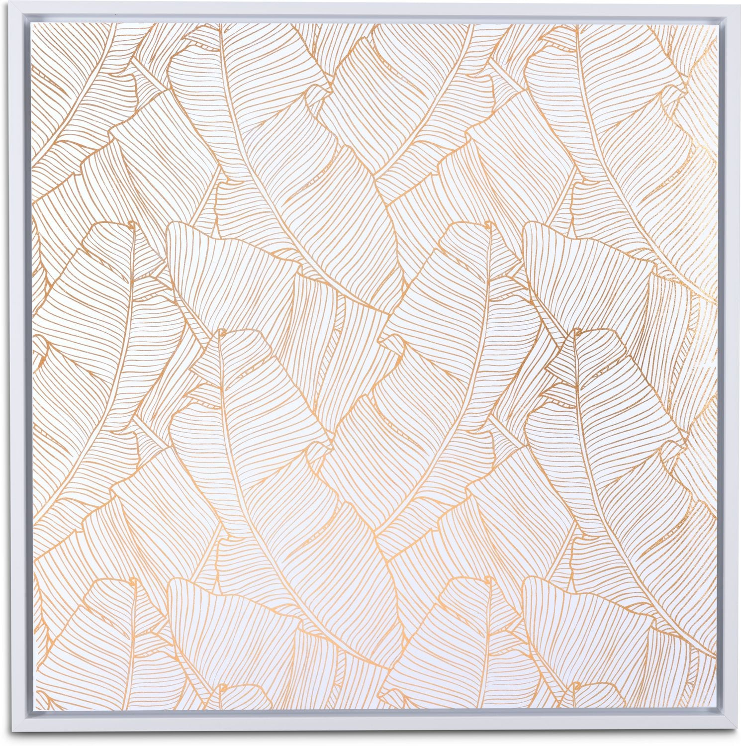 Home Accessories - Palm Canvas Wall Art - Gold